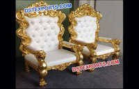 Beautiful Gold Plated Chairs Set For Wedding