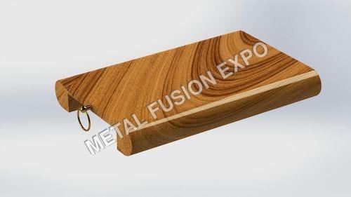 Metal Ring Cum Wood Chopping Board