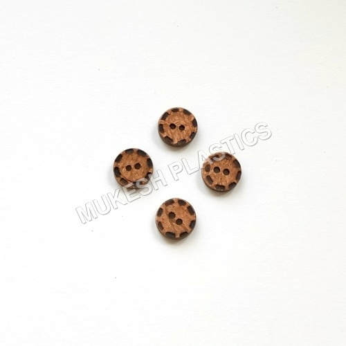 2 Hole Laser Dotted Coconut Button