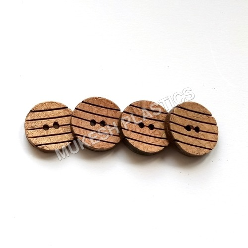 Round Convex Coconut Shell Buttons
