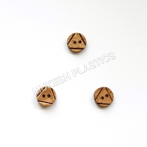 2 Hole Round Convex Triangle Coconut Shell Buttons