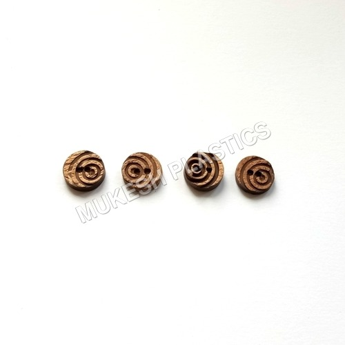 2 Hole Round Fancy Coconut Buttons