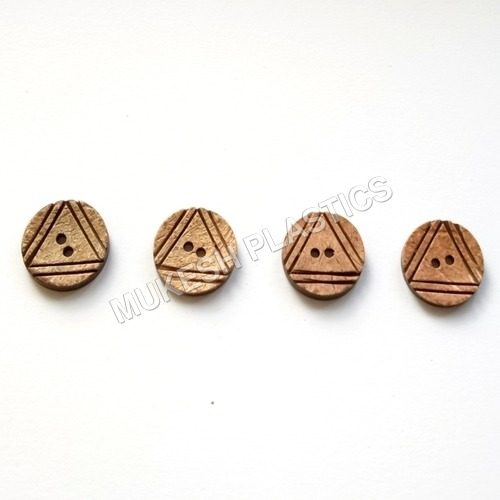 Coconut Convex Triangle Buttons