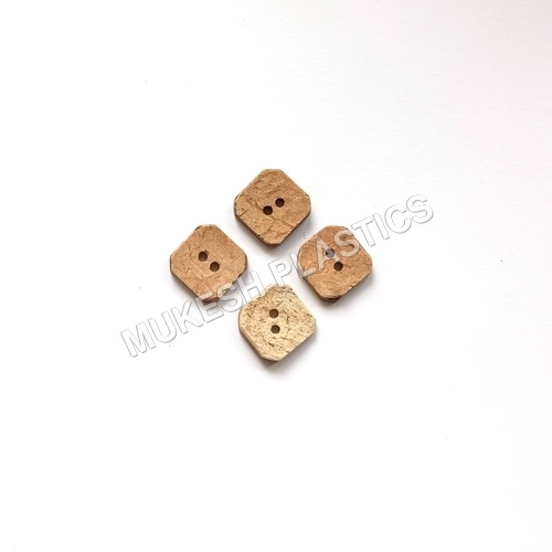 Coconut Shell Square Button