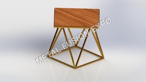 Wooden Cum Aluminum Table