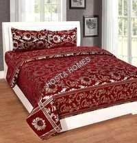 Rust Color Chenille Bed Sheet Size 90 X 100