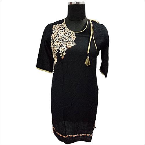 Black Silk Kurti