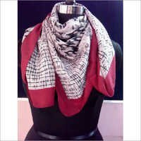 Printed Square neck Scarf