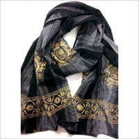Foil Print cotton Scarf