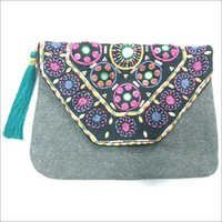 Hand Embroidery Ladies Clutch