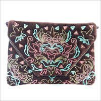 Velvet Embroidery Pouch