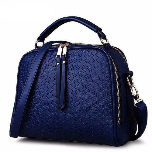 Blue Leather Hand Bags