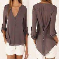 Cotton Ladies Stylish Tops
