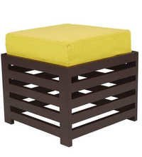 LifeEstyle Bonnie Stool (Yellow / Walnut)