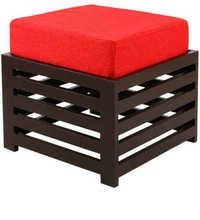 LifeEstyle Bonnie Stool (Red / Walnut)