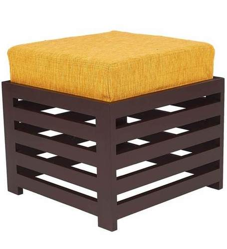 LifeEstyle Bonnie Stool (Dark Yellow / Walnut)