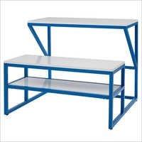 Industrial Wooden School Bench