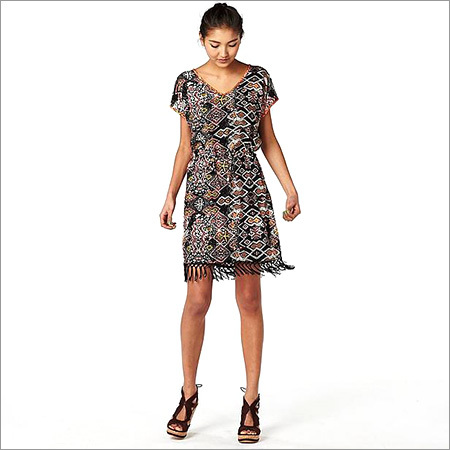 Ladies Designer Print Dress