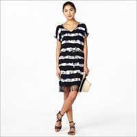 Ladies Stripe One Piece Dress