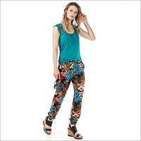 Ladies Flower Print Pants