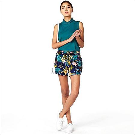 Ladies Digital Print Shorts