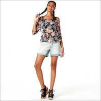 Ladies Flower Print Top