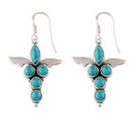 Gemsstone Earrings with silver