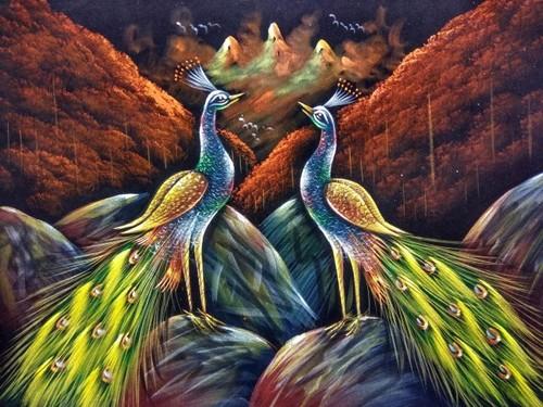 Peacock Bird Painting