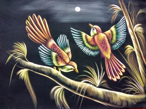 Sitting Bird Painting