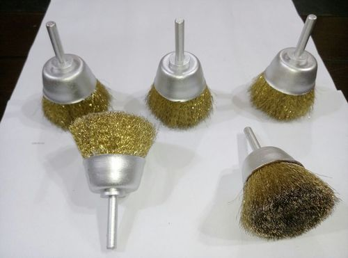 Brass Coated Cup Brush