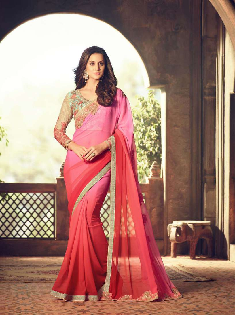 Georgette Saree With Designer Blouse