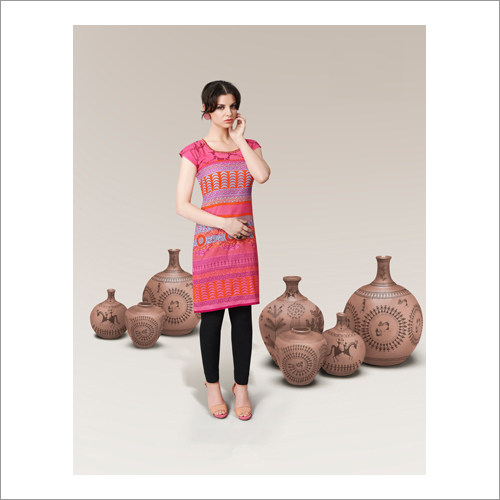 Ladies Digital Printed Kurtis