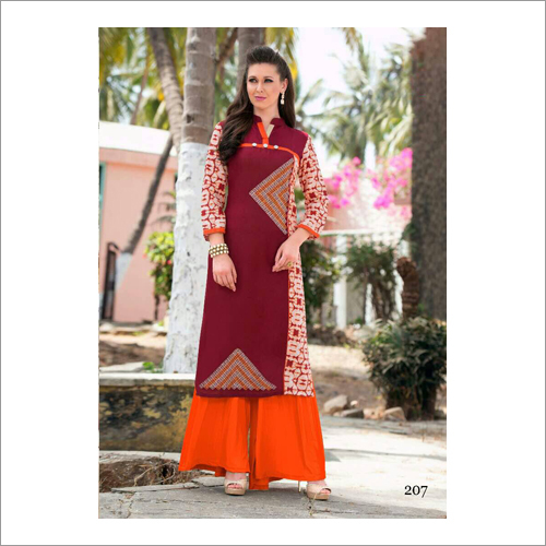 Ladies Collar Pirnted Kurti