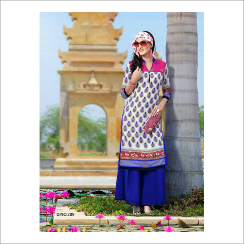Ladies Collar Casual Kurti