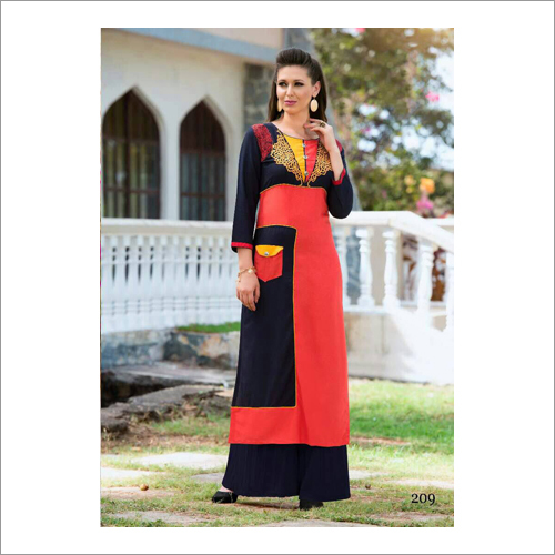 Ladies Round Neck Designer Kurti