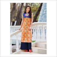 Ladies Collar Trendy Kurti
