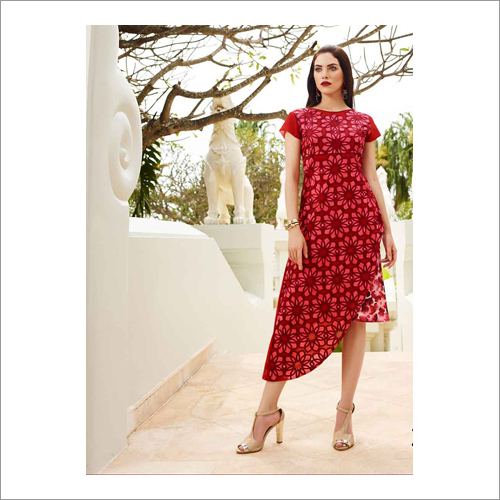 Ladies Rayon Printed Kurtis