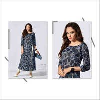 Ladies Digital Print Fancy Kurtis