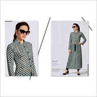 Ladies Moss Fine Crepe Digital Print Ladies Kurtis