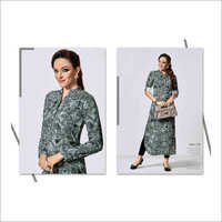 Ladies Digital Print Modern Kurtis