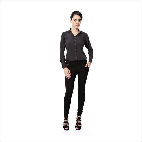 Ladies Formal Black Shirts