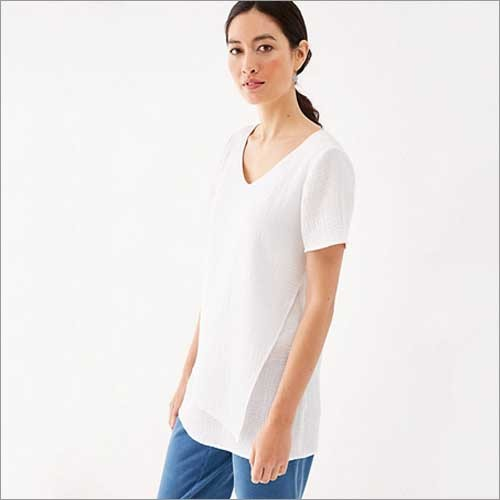 Ladies White Cotton Tops