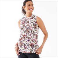 Ladies Printed Crepe Tops