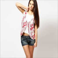 Ladies Printed Western Top