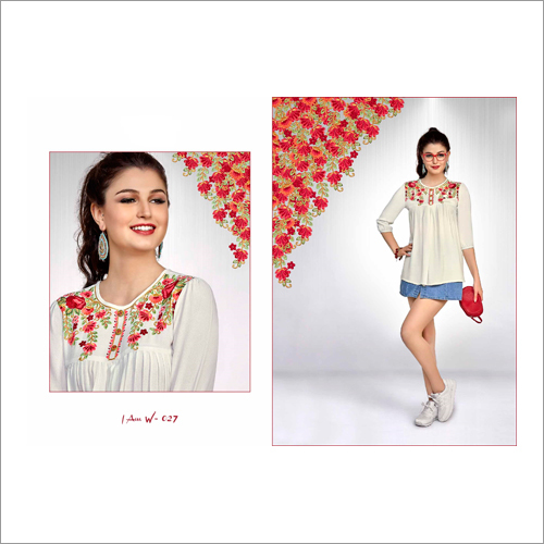 Ladies Embroidered Fancy Western Top