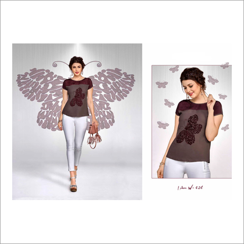 Ladies Digital Print Western Top