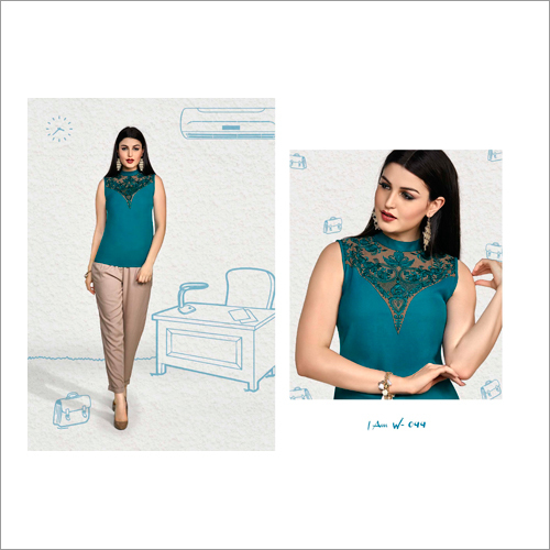 Ladies Embroidered Western Top