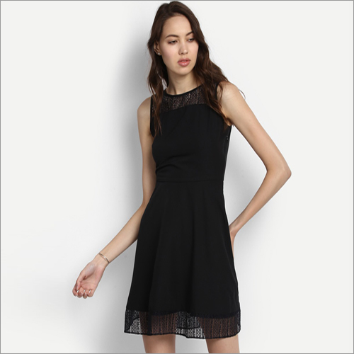 Ladies Black Berry Georgette Dress