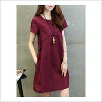 Ladies Cotton Western Dress