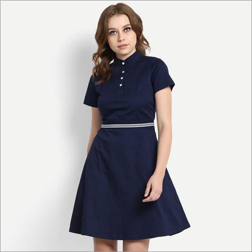 Ladies Party Wear Cotton Dress
